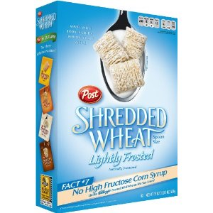 Post Shredded Wheat spoon size Lightly Frosted