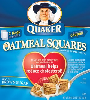 Quaker Oatmeal Squares Brown Sugar